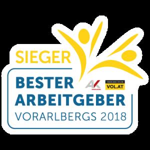 Bester Arbeitgeber Vorarlbergs 2018 - Sieger - 5 bis 10 Mitarbeiter